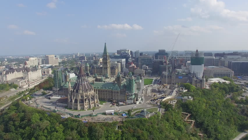 Aerial view of Ottawa's Downtown core | Shutterstock HD Video #11567093