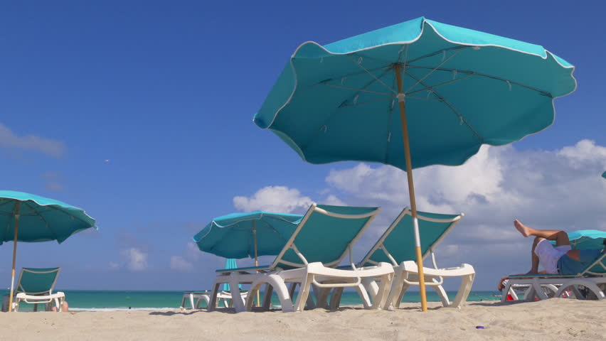 summer day miami south beach classic panorama 4k florida usa - 4K stock footage clip