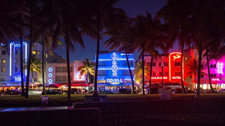 The Plymouth Miami Beach Neon Sign