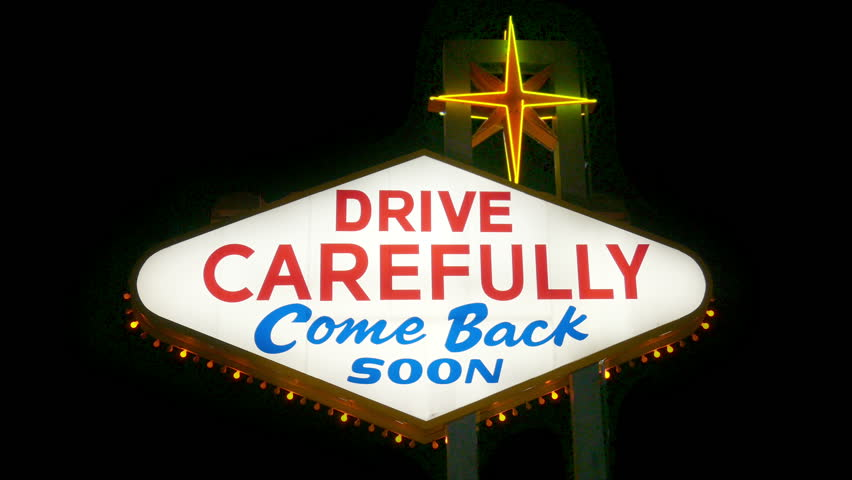 Welcome to Fabulous Las Vegas Nevada Sign (Loopable) Drive Carefully