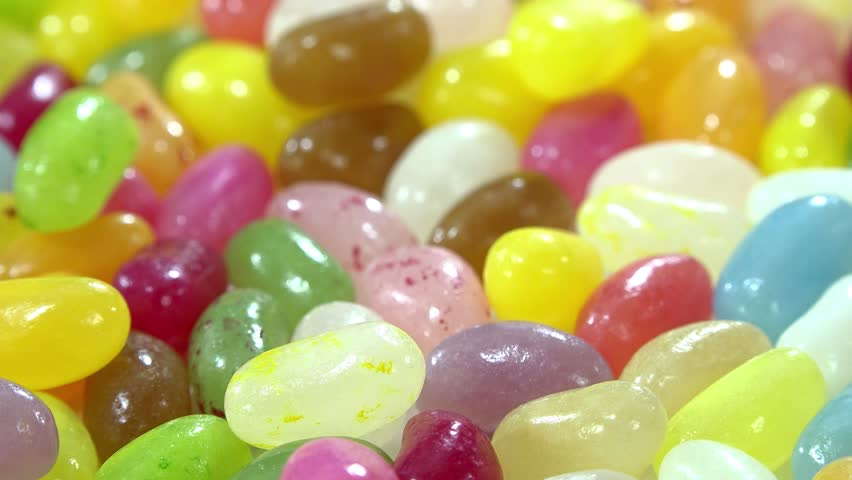 Rotating Jelly Beans (seamless loopable 4K UHD footage) - 4K stock footage clip