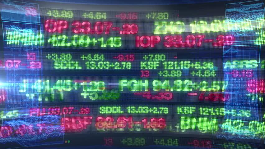 Stock Market Tickers - Digital Data Display Background