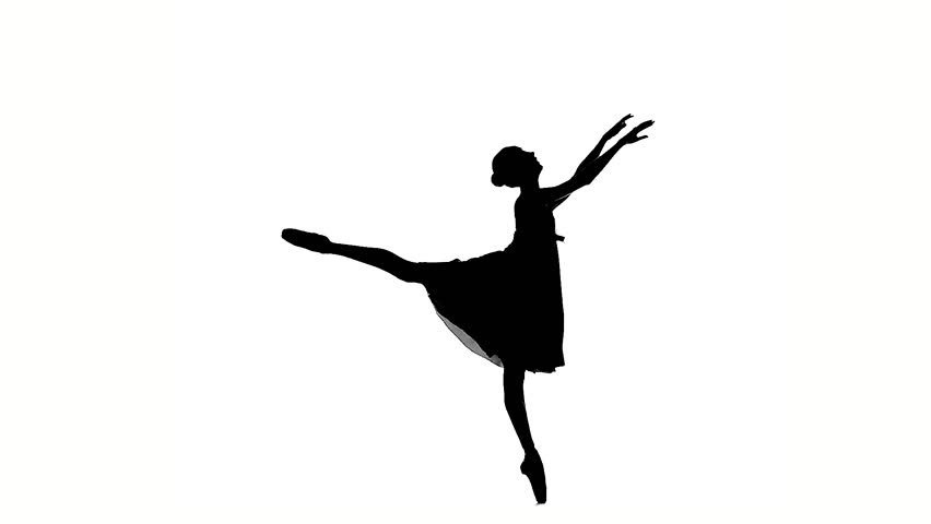 Young Girl Dancer, Little Ballerina Posing On A White