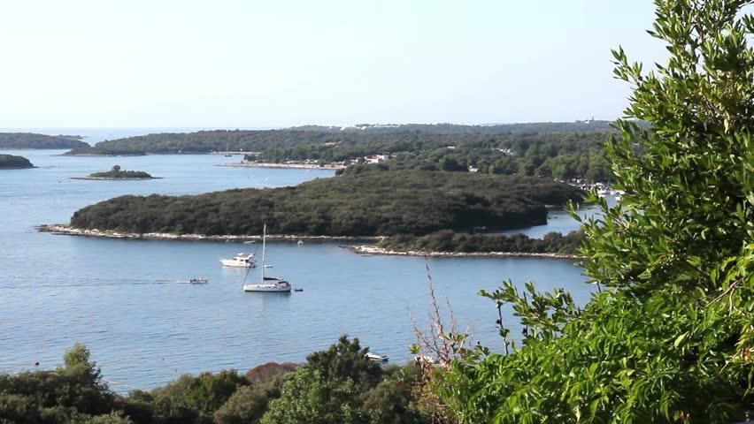 VRSAR, ISTRIA - AUG. 2015. Bay Landscape From Town  Adriatic Sea, Croatia | Shutterstock HD Video #11680853