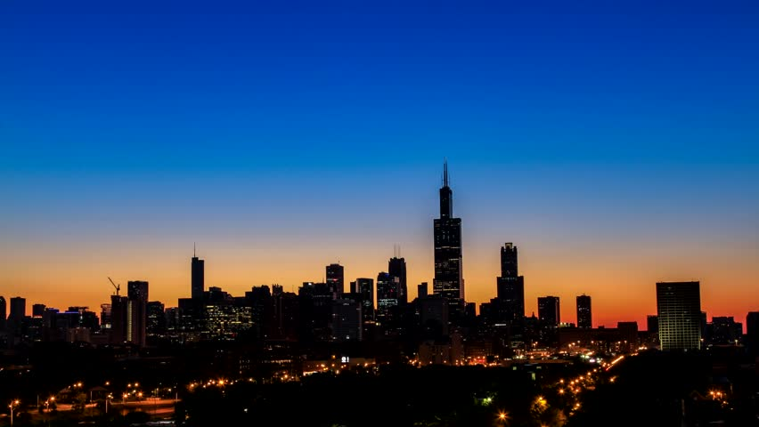 Illinois, Chicago - August  2015 ; Sunrise above Chicago skyline | Shutterstock HD Video #11681618