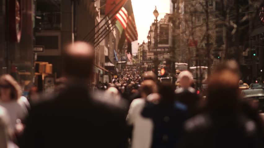 People walking on a Manhattan avenue. Busy street, full of tourist and business people. More options in my portfolio.