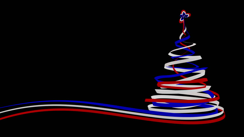 Christmas Tree From Blue Red And White Tapes 3d