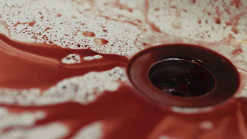 Washing Blood Away in Sink - Close Up | Shutterstock HD Video #11808977