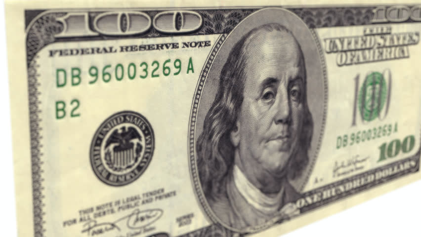 Banknote hundred of US dollars close-up wiring animation with alpha channel   Shutterstock HD Video #11839073