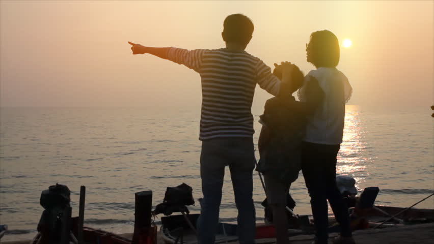 Asian family with sunset | Shutterstock HD Video #11844095