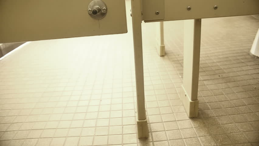 Public bathroom stall, national park government land