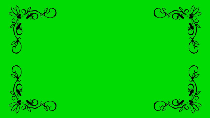 4k cartoon animation footage video short opening intro for Green screen backgrounds free templates
