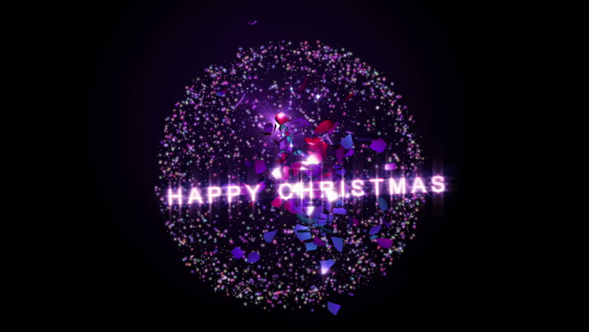 A fun Christmas clip of some Merry Christmas text sparkling and then being swarmed by lots of stars. Comes with the Alpha Matte.