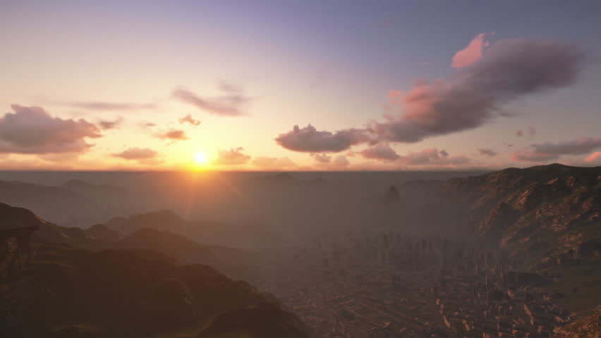 Rio de Janeiro, sunrise, camera fly - HD stock video clip