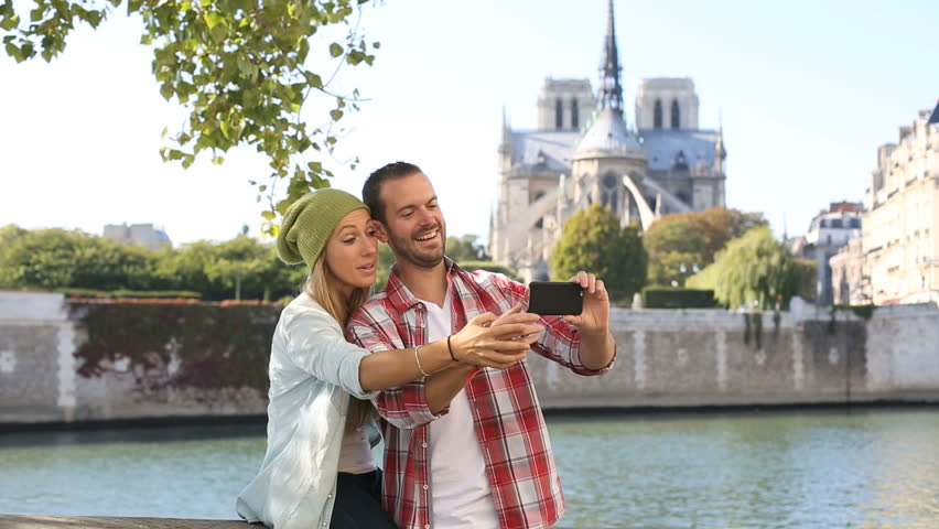 Young couple visiting Paris, HD (1920X1080, 25 fps) | Shutterstock HD Video #12317999