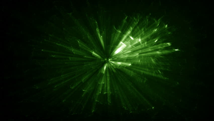 Green Light Effects Stock Footage Video: Exploding Fireworks Particles On A Green Screen Background
