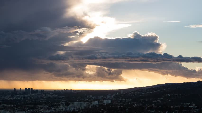 Los Angeles Clouds Sunset Timelapse - Hollywood, Santa Monica, Beverly Hills | Shutterstock HD Video #12624332
