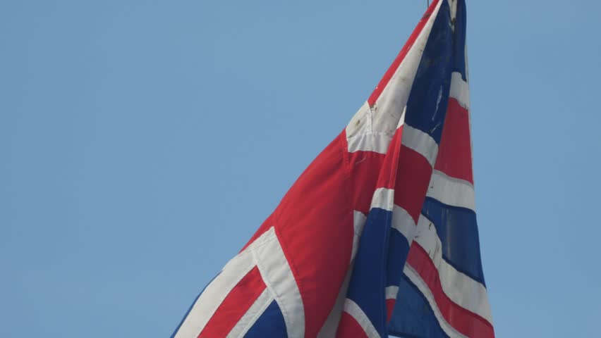 The flag of the United Kingdom of Great Britain and Northern Ireland Union Flag Waving - 4K stock video clip