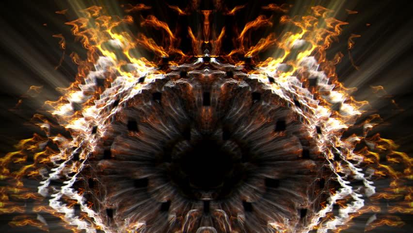 4k Orange Spiral Fire Light Dance Vj 2160p Background: Orange Tunnel, Vortex Or Intestine Stock Footage Video
