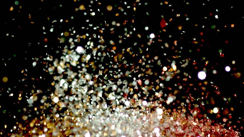Glitter on speaker exploding upwards | Shutterstock HD Video #12682598
