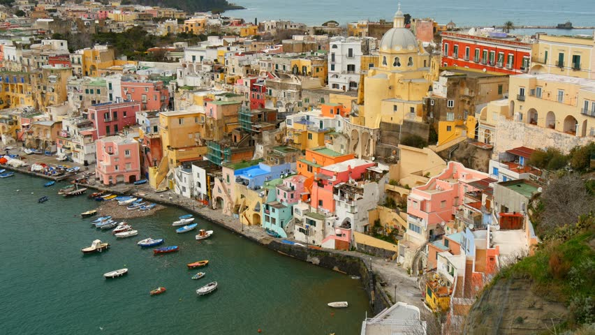 Island of Procida. Naples, Italy. UHD, 4K | Shutterstock HD Video #12695081