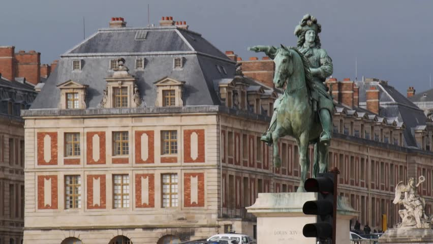 Versailles, France - October, 2015 - Close up of the statue of Louis XIV outside of the Palace of Versailles.