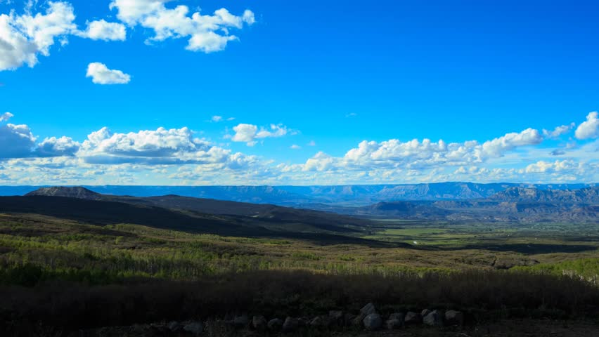 Grand Mesa National Forest Cloud Timelapse, overlooking Debeque Canyon