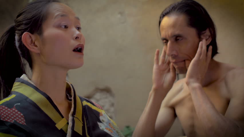 A strange love affair between two mixed ethnic butoh dancers
