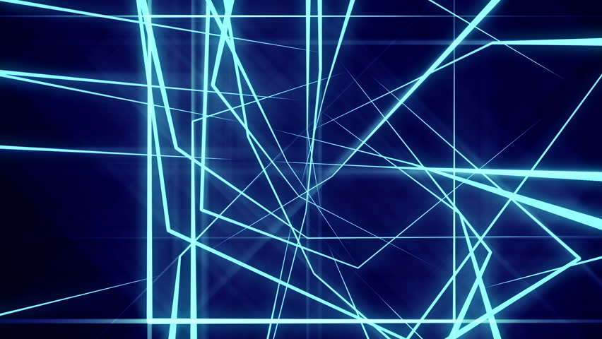 Blue Neon Laser Lights Animated Seamless Motion Graphics ...