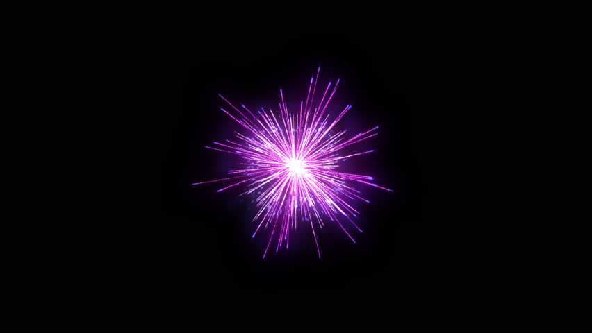 Fireworks holiday background, Alpha PNG - HD stock video clip