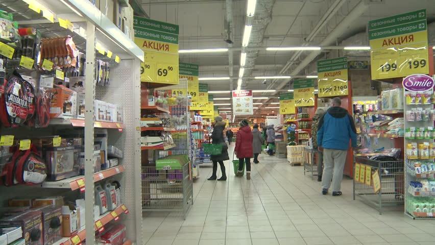 circa jan 2015 interior of ikea marketplace camera moving ikea