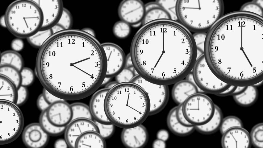 Many Clocks flying in Time-lapse in 3D animation. Time Concept Footage. HD 1080. Looped. | Shutterstock HD Video #12981668