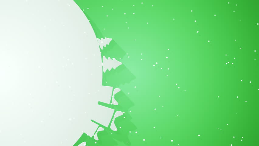 Abstract background with animation rotation of silhouettes of fir-trees, gift boxes and snowmans on circle like snowy planet. Animation of seamless loop. | Shutterstock HD Video #12991892