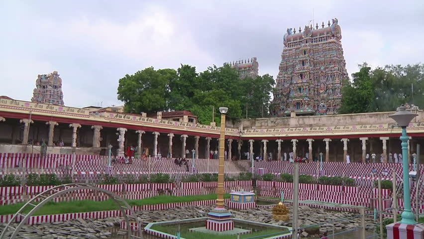 MUDARAI, INDIA  SEP 23, 2011: Meenakshi Amman Hindu Temple - HD stock video clip