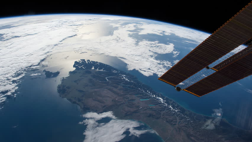 Planet Earth view from space or ISS. The spacecraft is passing above New Zeland, there is bump at the beginnig of the video when the ship turned.Elements of this image furnished by NASA on Nov 23,2015