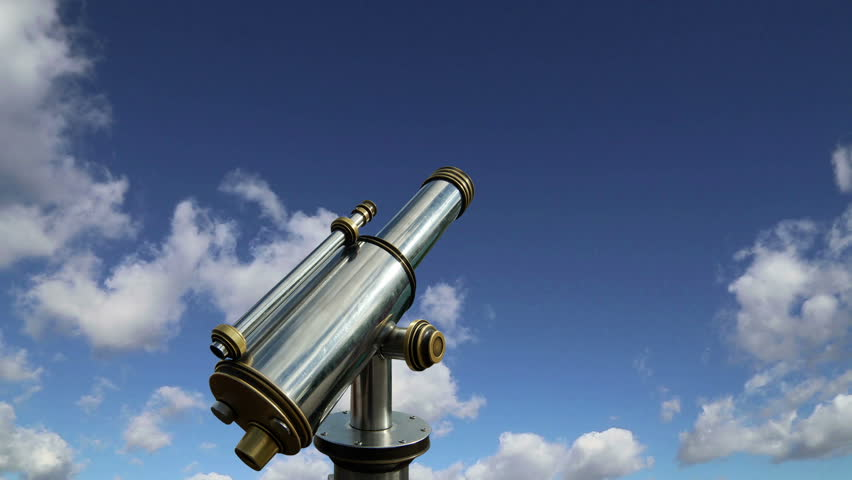 Telescope viewer against the sky   (time lapse)  | Shutterstock HD Video #13116326
