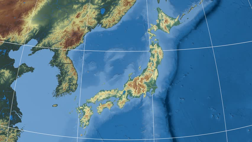 Yamanashi Prefecture Extruded On The Satellite Map Of Japan - Japan map yamanashi
