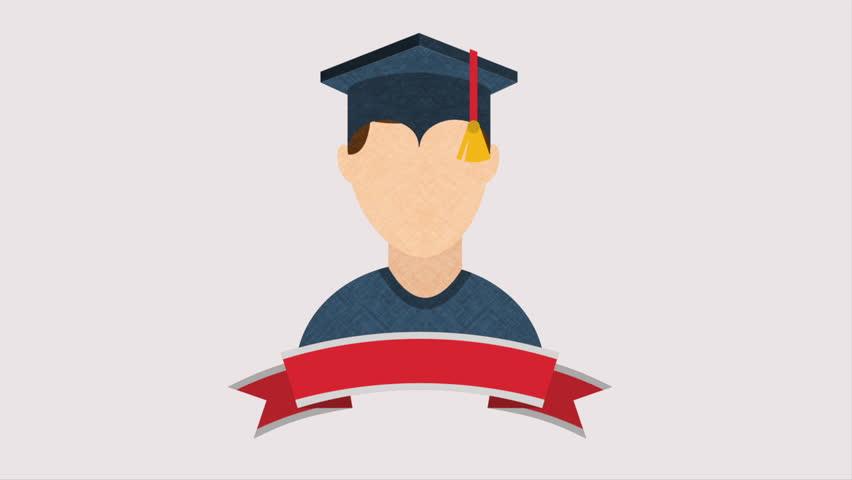 graduation design video animation hd1080 stock footage