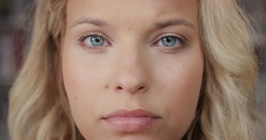 Natural Light Pale Eyes Close Up
