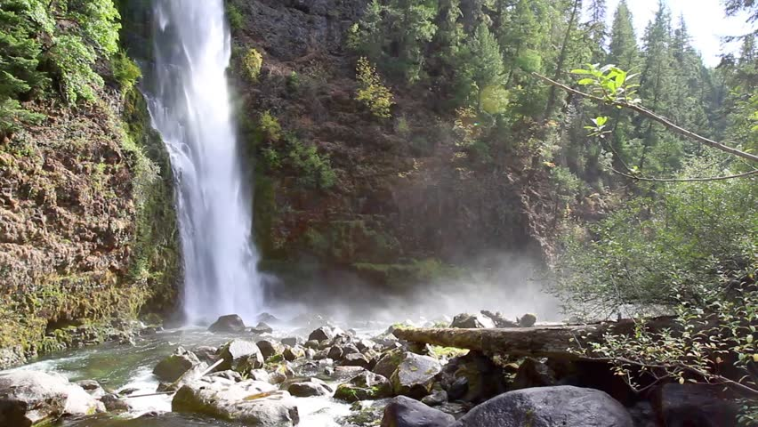 Mill Creek Falls, Oregon, Natural resource with power and beauty in  Prospect, Oregon   Shutterstock HD Video #13167473
