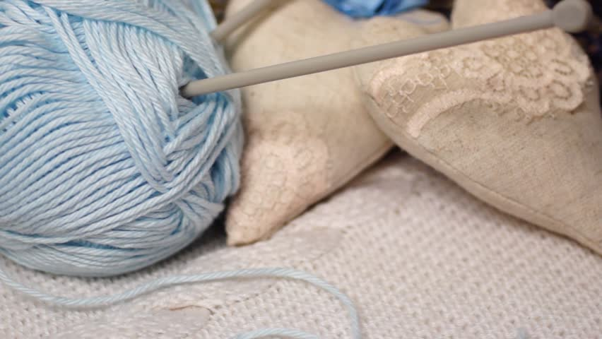 Knitting Images Hd : Winding thread on a ball of yarn by hand hd h stock