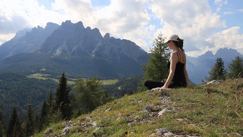 yoga in the mountain