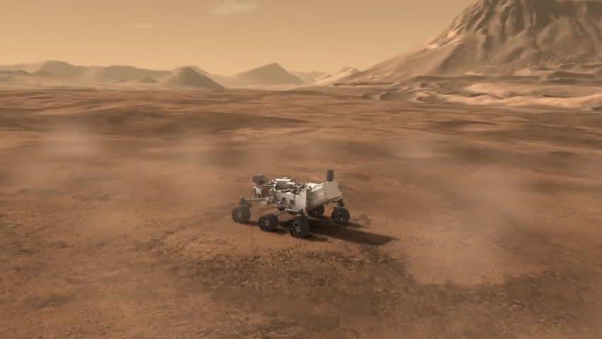CIRCA 2010s - The Curiosity Rover Lands On Mars August 5 ...