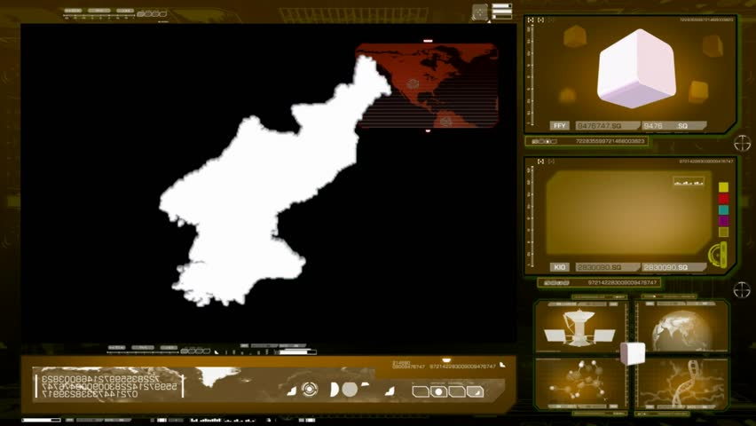 North Korea scanned by software - HD stock video clip