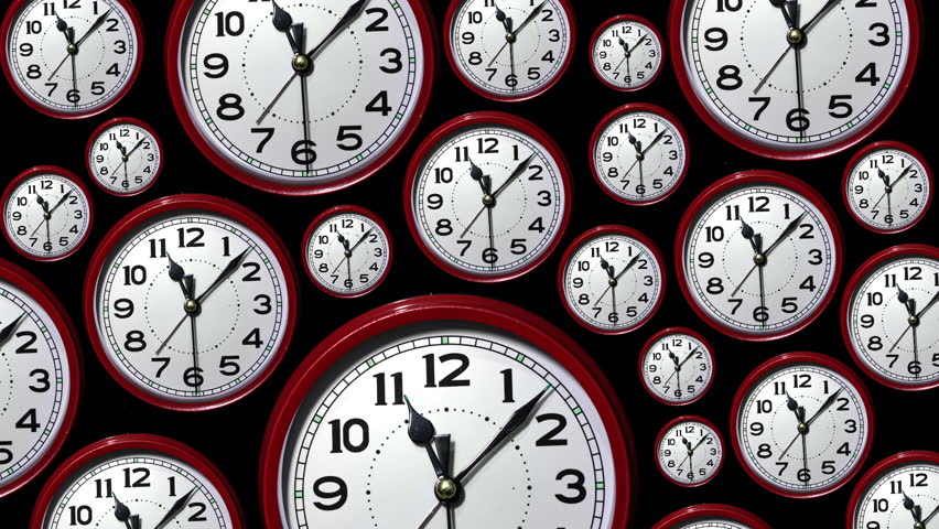 Zoom in to many time lapse clock faces all showing the same time. | Shutterstock HD Video #13349534