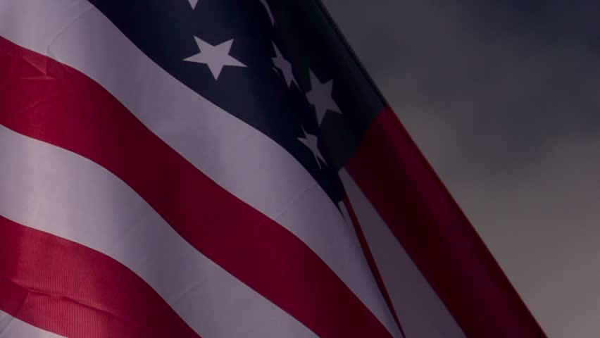 United States flag  - HD stock footage clip