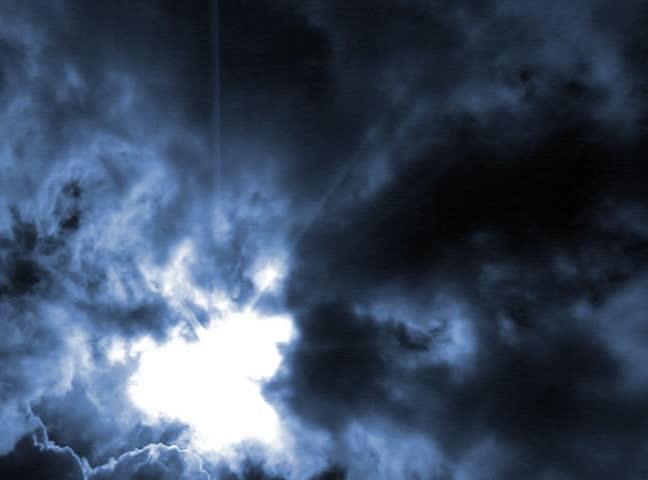 VJ Loop 145 3D Particles Timelapse Cloudscape