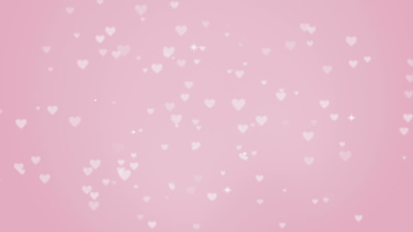 Rising Heart shapes -pink color - HD stock video clip