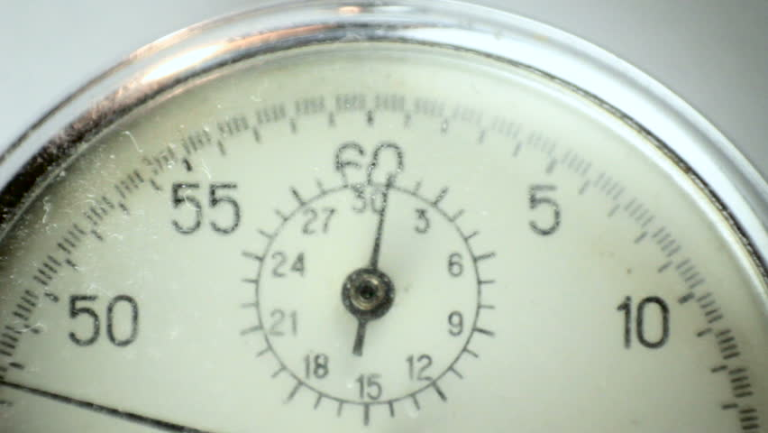 Old, rusty Stopwatch on white - HD stock video clip