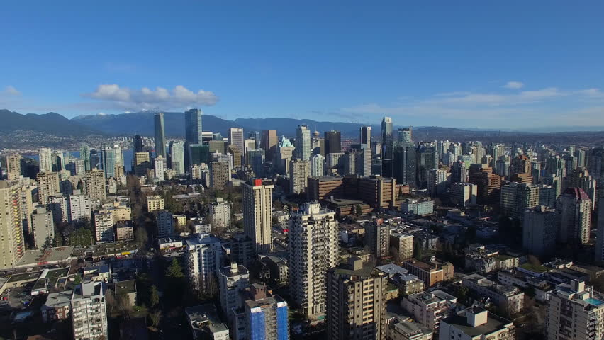 Aerial video of downtown Vancouver BC in Canada. | Shutterstock HD Video #13479935